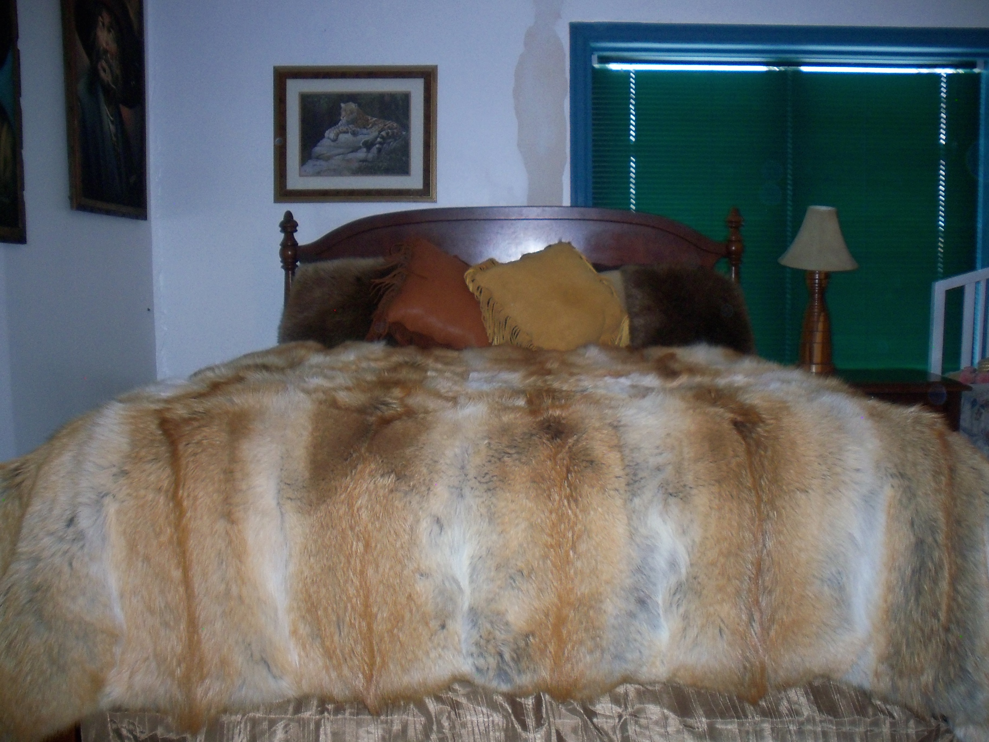 057eb179d7 Red Coyote Fur Blanket
